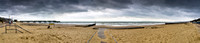 Boscombe beach panorama