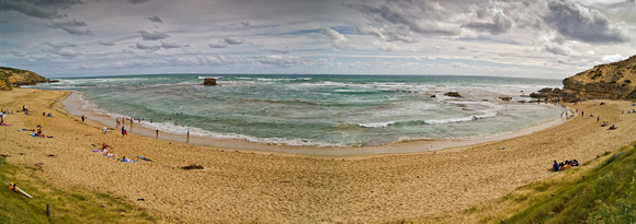 Sorrento back beach panorama