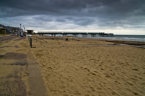 Boscombe beach and pier